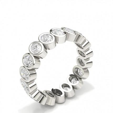 Bezel Indfatning Fuld Evigheds Diamant Ring