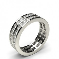 Fuld Evigheds Diamant Ring Med Kanalfatning