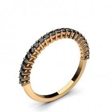 Rose Gold Black Diamond Women's Wedding Rings