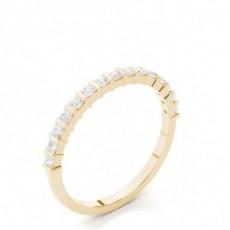 Halb Eternity Diamant Ring in einer Balkenfassung