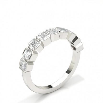 Fuld Bezel Indfatning Halv Evigheds Diamant Ring