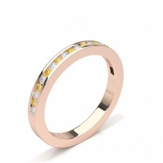 Rose Gull Gule Diamantringer