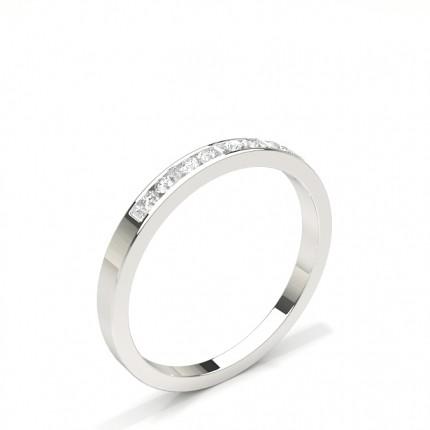 Halv Evigheds Diamant Ring Med Kanalfatning