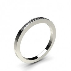 Pave Setting Half Eternity Black Diamond Ring