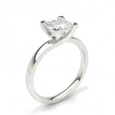 Prinsesse Solitaire Diamantringer