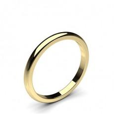 Yellow Gold Women Plain Wedding Bands
