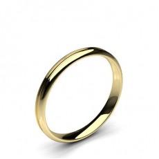 Oro giallo Fedi nuziali da donna
