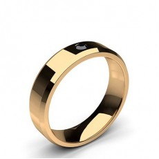 Rose Gold Black Diamond Men's Wedding Rings