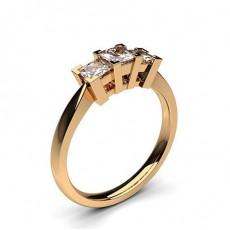 Or Rose Bague 3 diamants