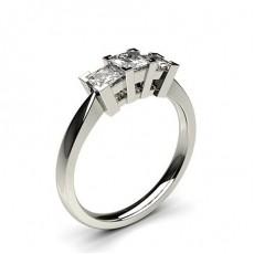 Platine Bague 3 diamants
