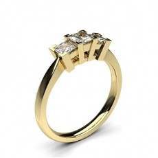 Or Jaune Bague 3 diamants