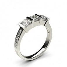 Platinum Trilogy Diamond Engagement Rings