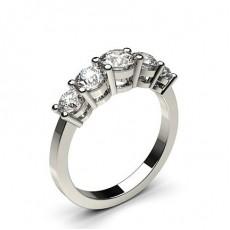 Weißgold 5 Diamanten