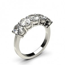 Ovale Anelli con 5 diamanti