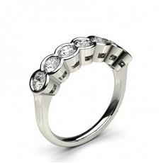 Semi Ramme Innfatning Glatt Syvstens Ring