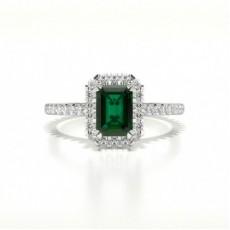 Smaragd Halo Smaragd Verlobungsring