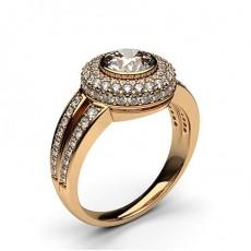 Rose Gold Halo Diamond Engagement Rings