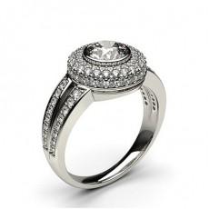 Platinum Halo Diamond Engagement Rings