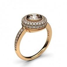 Rotgold Halo-Ringe