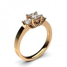 Oro rosa Anelli con 3 diamanti