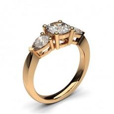 Oro rosa Anelli di fidanzamento Trilogy