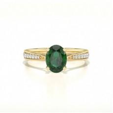 Yellow Gold Emerald Rings