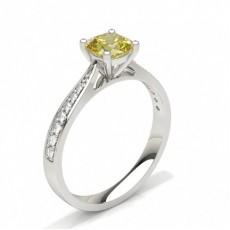 pute Forlovelsesringer Med Gule Diamanter