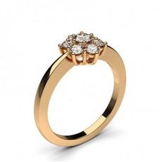 Rose Gull 7 Diamantringer i Stein