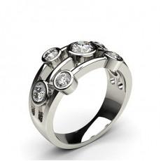 Rund 7 Diamantringer i Stein