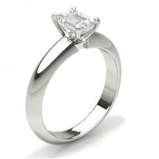 Smeraldo Anelli con diamanti solitari