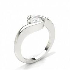 Rund Solitaire Diamantringer