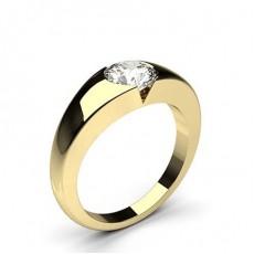 Diamant Verlobungsring in einer Eingeriebenefassung