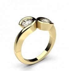 Yellow Gold Two Stone Diamond Rings