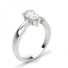 Pære Solitaire Diamantringer