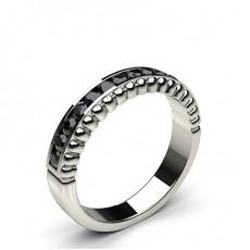 0.35ct. Channel Setting Half Eternity Black Diamond Ring