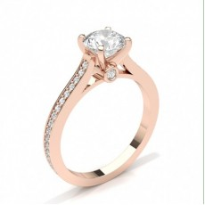 Oro rosa Anelli con diamanti laterali