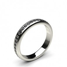 3.30mm Pave Setting Full Eternity Black Diamond Ring