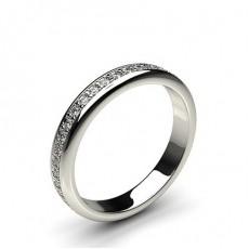 3.30mm Pave Setting Full Eternity Diamond Ring