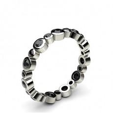 Full Bezel Setting Full Eternity Black Diamond Ring