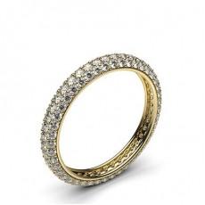 Alliance tour complet diamant rond serti pavé