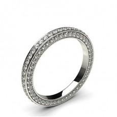 Diamant Memoire Ring in einer Pavefassung