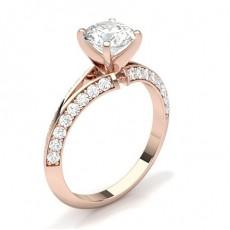 Rotgold Seitenstein Diamantringe