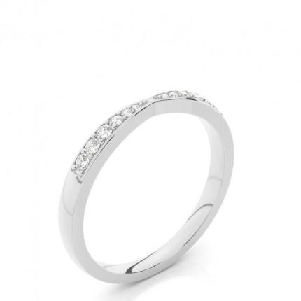Studded Flat Profile Diamond Shaped Band