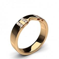 Women's Rose Gold Diamond Wedding Rings