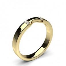Gult Gull Diamant Gifteringer for Kvinner
