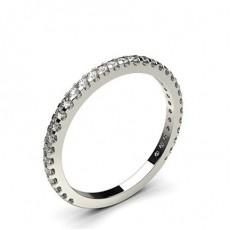 Platinum Diamond Half Eternity Rings