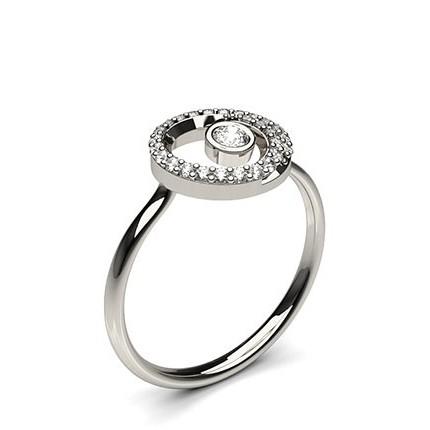 0.20ct. Full Bezel & Kloinfattad Briljant Diamant Löftesring