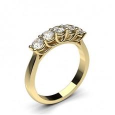 5 Diamanten Ring einfach in einer Krappenfassung