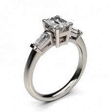 Platin Diamond Rings Three Stone