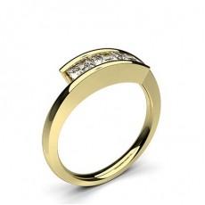 Gult Gull Trilogi forlovelsesringer